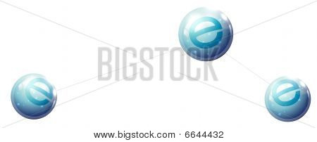 ball with e letter