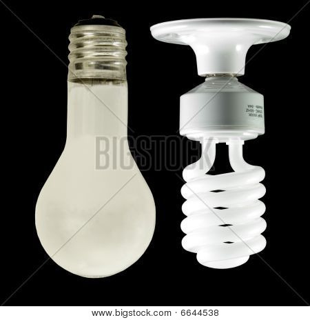 traditional - vs - energysaving bulb