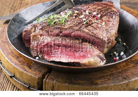 steak in the frypan