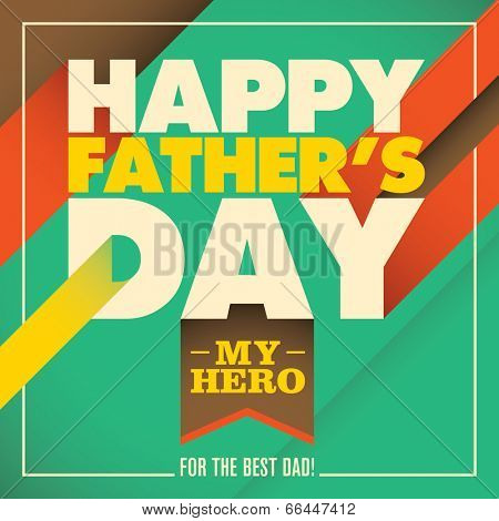Father's day card with abstract design. Vector illustration.