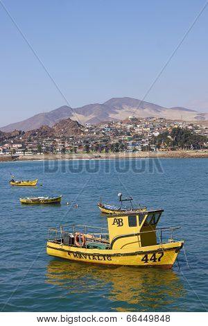 Yellow Fishing Boats