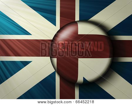 British flag with the rays