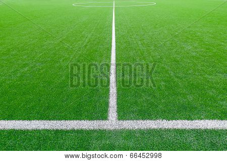 Soccer Field Detail With White Lines