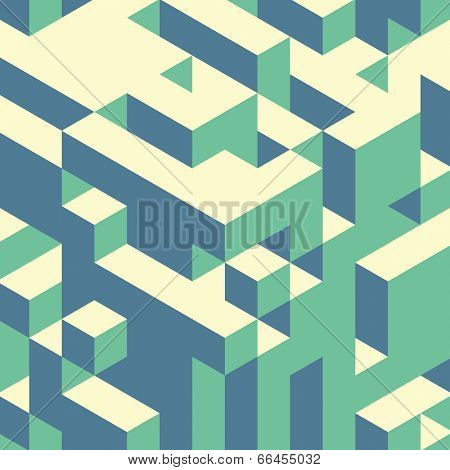 Abstract geometrical 3d background. Vector illustration. Can be used for wallpaper, web page background.