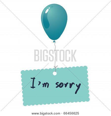 I'm Sorry Card Vector
