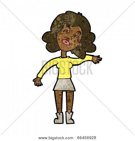 cartoon woman only joking