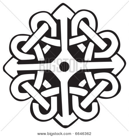 A vector illustration of a Celtic pattern and knots