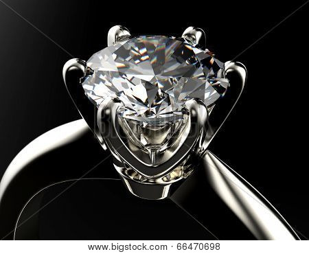 Engagement  Ring with Diamond or moissanite Jewelry background
