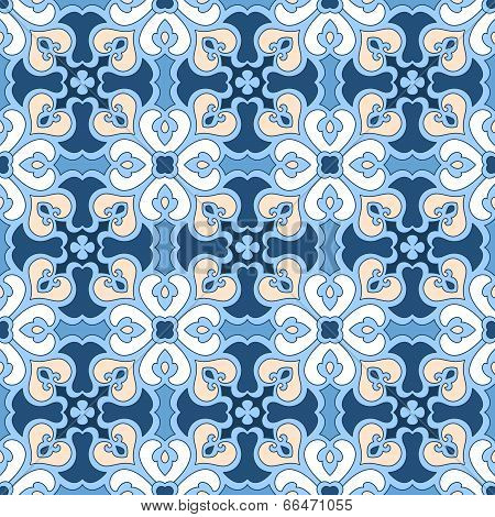 Seamless Floral Tiling Pattern
