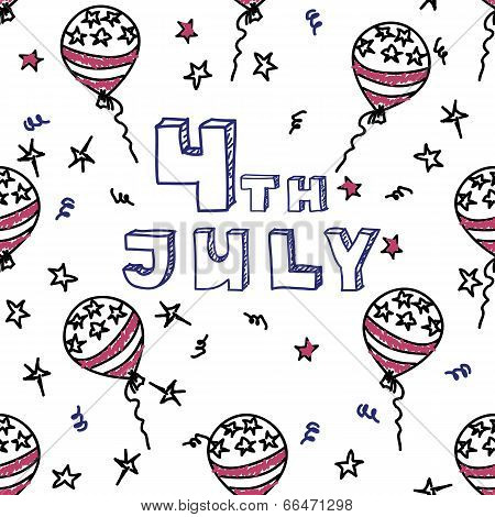 Independence day celebration card. 4th July