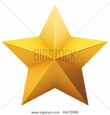 Gold five-pointed star.