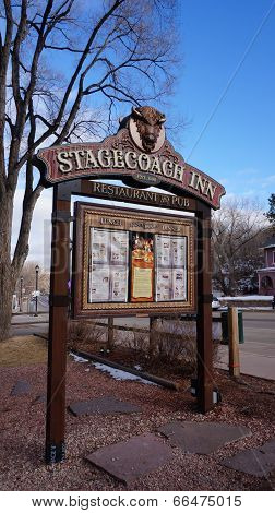 Sign Board Of Stagecoach Inn