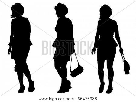 Large crowd of young girls on white background