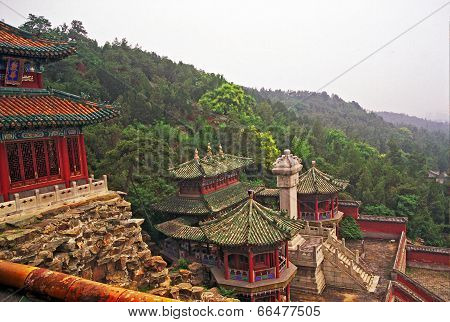 Beijing, China - July 2004: Beautiful buildings at  Longevity Hill In Summer Palace in July 2004.