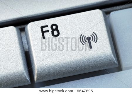 The function F8 key is also the wireless connection key