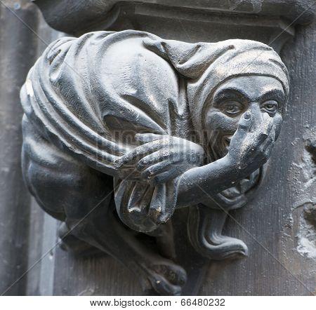 Gothic gargoyle on New Town Hall (Munich, Germany).