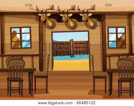 Illustration of a saloon bar