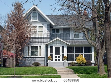 House with Gray Wood Siding
