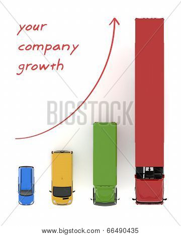 transportation flote growth background graphs