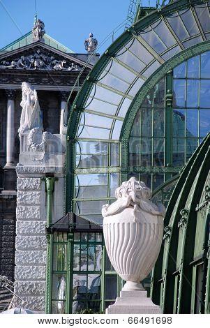 Palmenhaus And Hofburg Palace In Vienna,Austria