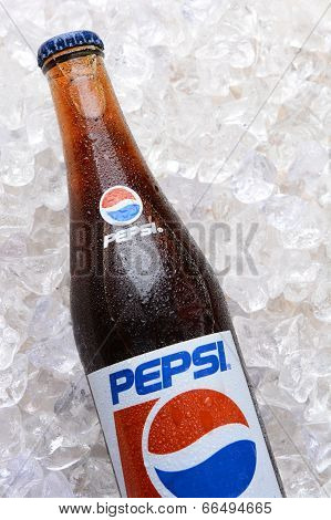 Pepsi Cola Bottle In Ice