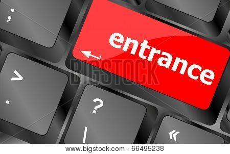 Entrance Button On Computer Pc Keyboard Key
