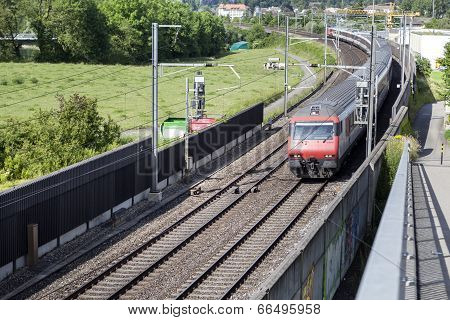 Swiss Suburb Train