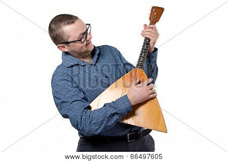 Man with balalaika