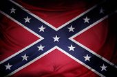 image of confederation  - Closeup of silky Confederate flag - JPG