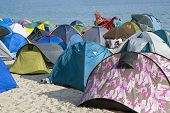 picture of wigwams  - Tents on the beach - JPG