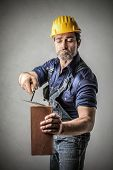 image of bricklayer  - bricklayer - JPG