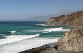 stock photo of pch  - Scenery along beautiful Southern California Highway 1 - JPG