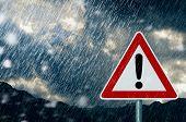 picture of sleet  - bad weather  - JPG