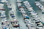image of typhoon  - Aberdeen typhoon shelter in Hong Kong - JPG