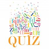 foto of quiz  - An abstract illustration of a Quiz on a white background - JPG