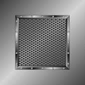 picture of metal grate  - metal background with grate texture  - JPG