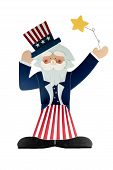 foto of uncle  - An Uncle Sam Decoration against a white background - JPG