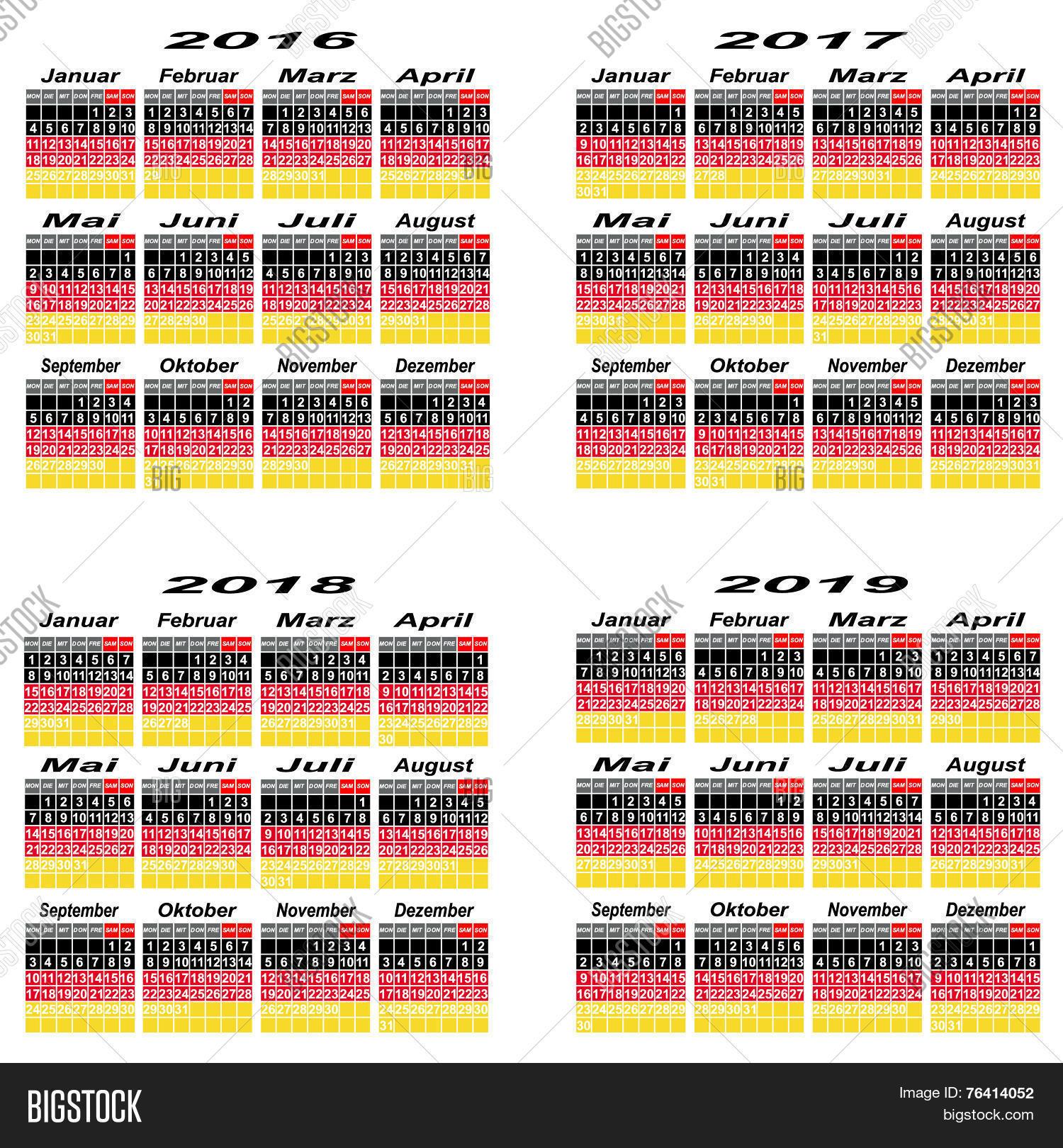 Germany Calendar 2016,2017