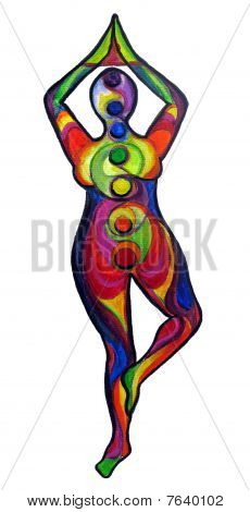 Colorful Yoga Illustration