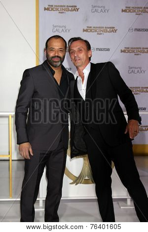 m LOS ANGELES - NOV 17:  Jeffrey Wright, Robert Knepper at the The Hunger Games: Mockingjay Part 1 Premiere at the Nokia Theater on November 17, 2014 in Los Angeles, CA