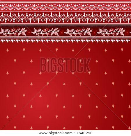 Red Sari Pattern