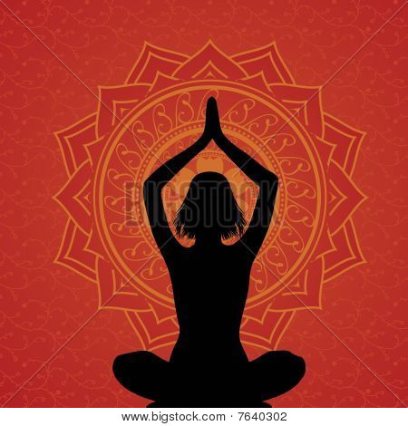 Red Yoga Background