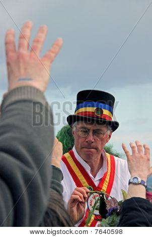 A Morris Dancer at Jack In The Green Festival