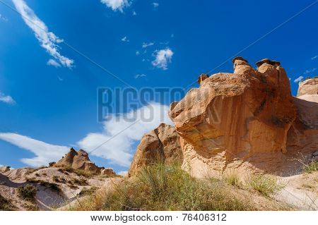 Bizzare rocks in Cappadocia, Turkey