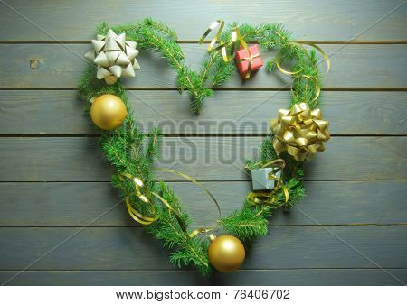 Christmas Tree Love Heart