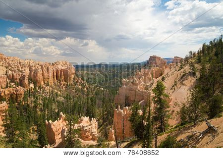 Rain Clouds Over Bryce Canyon