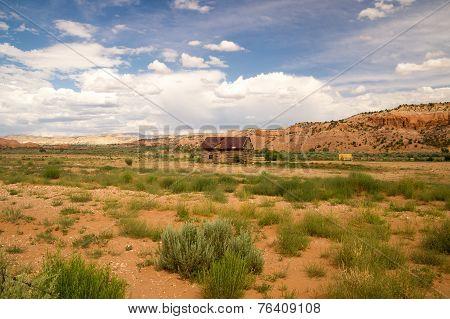 Cabin And Hay In Rural Utah