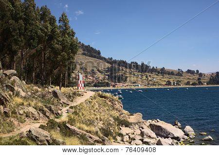 Beacon of Copacabana at Lake Titicaca, Bolivia