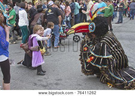 Strange Mardi Gras Bird Taking Pictures