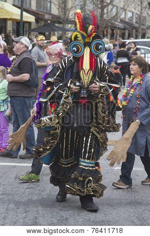 Exotic Bird Costume In The Mardi Gras Parade